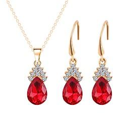 levne Sady šperků-Dámské Pozlacené Šperky Set 1 x náhrdelník / Küpeler - Jednoduchý / Módní Červená Sady šperků / Náhrdelníky s přívěšky Pro Svatební /