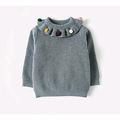 billige Sweaters og cardigans til babyer-Nyfødt Pige Ensfarvet Langærmet Kort Bomuld Trøje og cardigan