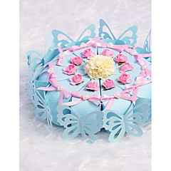 cheap Favor Holders-Card Paper Favor Holder with Bowknot Ribbons Gift Boxes Candy Jars and Bottles - 10pcs