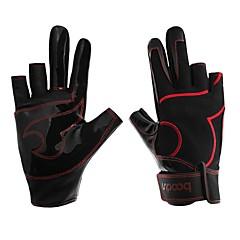 Χαμηλού Κόστους -Γάντια Ψαρέματος 1 pcs Χωρίς Δάχτυλα Αντιολισθητικό Προστατευτικό PU δέρμα Ίνα νάιλον Spandex Όλες οι εποχές Γιούνισεξ