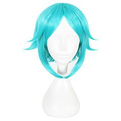 tanie Peruki syntetyczne-Peruki syntetyczne Prosto Zielnony Damskie Bez czepka cosplay peruka Włosy syntetyczne