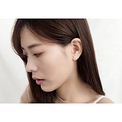 cheap Earrings-Women's Lovely Mini Silver Plated One-piece Suit Stud Earrings - Korean Silver Earrings For Party / Office & Career