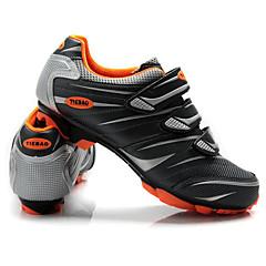 billige Sykkelsko-Tiebao® Mountain Bike-sko Nylon Vanntett, Anti-Skli, Demping Sykling Sølv / Rød / Grønn Herre