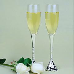 Vidro Brindando flautas Caixa de Ofertas Casamento Todas as Estações
