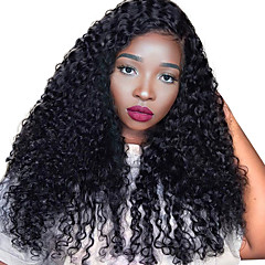 cheap Wigs & Hair Pieces-Human Hair Lace Front Wig Brazilian Hair Curly Kinky Curly 250% Density Natural Hairline Medium Long Women's Human Hair Lace Wig