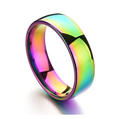 cheap Men's Rings-Men's Band Ring - Stainless Rainbow Colorful Jewelry Champagne For Daily Formal 6 / 7 / 8 / 9 / 10