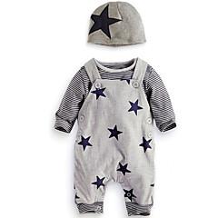 povoljno Odjeća za bebe Za dječake-Dijete Dječaci Jednostavan / Ležerne prilike Dnevno / Izlasci Print Dugih rukava Regularna Normalne dužine Pamuk Komplet odjeće Sive boje / Dijete koje je tek prohodalo