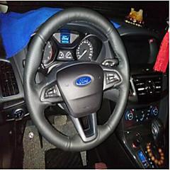billige Rattovertrekk til bilen-Rattovertrekk til bilen ekte lær 38 cm Grå / Svart / Rød Til Universell / Ford Focus / General motors