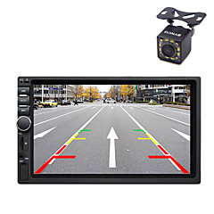 cheap Car DVD Players-2 Din 7 Inch Bluetooth V2.0 Car Audio Video Car DVD MP5 Player with 12LED CCD Rear View Camera Machine