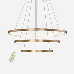 billiga Dekorativ belysning-modern elektrodelös dämpning led hänglampor max 100w enkelhet tre ringar kontor vardagsrum restaurang ljuskrona