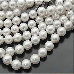 baratos Miçangas & Fabricação de Bijuterias-Jóias DIY 46 pçs Contas Imitação de Pérola Branco Redonda Bead 0.8 cm faça você mesmo Colar Pulseiras