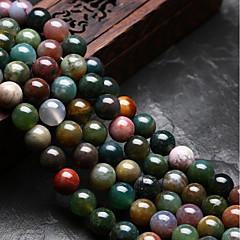 baratos Miçangas & Fabricação de Bijuterias-Jóias DIY 48 pçs Contas Ágata Arco-íris Redonda Forma U Bead 0.8 cm faça você mesmo Colar Pulseiras