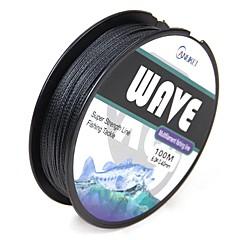 levne Rybářské vlasce-100M / 110 Yards Polyethylenový vlasec / Dyneema 100LB 8LB 0.14-0.5 mm Pro Mořský rybolov Muškaření Bait Casting Rybaření v ledu Spinning