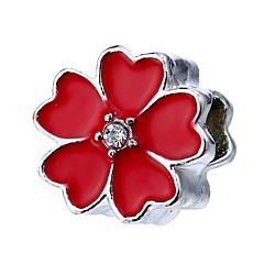 tanie Koraliki i tworzenie biżuterii-Biżuteria DIY 10 szt Korálky Stop Pearl Pink Czerwony Green Light Blue Granatowy Kwiat Koralik 1.1 cm majsterkowanie Naszyjniki