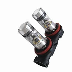 cheap Car Fog Lights-2pcs Light Bulbs 100W High Performance LED 20 Fog Light For Fiat 2018 / 2017 / 2016