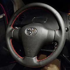 billige Rattovertrekk til bilen-bil ratt deksler (lær) for toyota alle år corolla