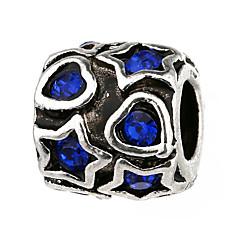 billige Perler og smykkemaking-DIY Smykker 10 stk Perler Strass Legering Hvit Perle Rosa Rød Lyseblå Marineblå Sylinder Perlene 0.45 cm DIY Halskjeder Armbånd