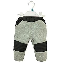 baratos Roupas de Meninos-Para Meninos Calças Sólido Desenho Animado Inverno Primavera Algodão Fofo Cinzento