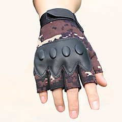 tanie Rękawiczki motocyklowe-źródło producenci taktyczne rękawiczki męskie pół-ręczne kamuflaż fitness zewnętrzne przesuwne odporne na ścieranie rękawice bojowe