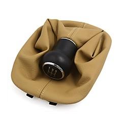 billige Girkuler-5-trinns bil girskifte håndtak deksel shifter boot svart khaki for vw passat