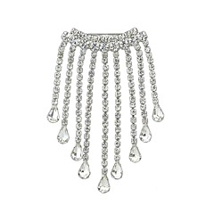 cheap Brooches-Women's Brooches , Rhinestone Simple Basic Alloy Irregular Jewelry For Daily New Year