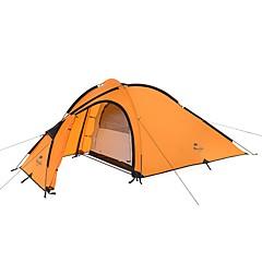 billige Telt og ly-Naturehike 3-4 personer Dobbelt camping Tent Utendørs Turtelt Fort Tørring Vindtett Regn-sikker til 2000-3000 mm Nylon 310*152*120cm
