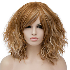 cheap Wigs & Hair Pieces-Synthetic Wig Women's Water Wave Red Synthetic Hair Red / Blue / Blonde Wig Short Capless Dark Blonde Pink Black / Dark Green / Brown / Purple