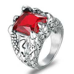 billige Motering-Herre Syntetisk Ruby Statement Ring - Rock, Mote 8 / 9 / 10 / 11 / 12 Svart / Rød / Blå Til Klubb Bar