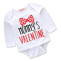billige Babytøj-Baby Pige Simple / Afslappet I-byen-tøj Trykt mønster Trykt mønster Langærmet Bomuld Bodysuit