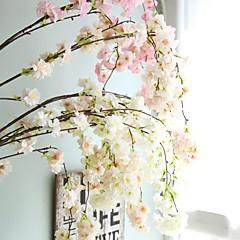 Χαμηλού Κόστους Διακόσμηση Σπιτιού-Ψεύτικα λουλούδια 1 Κλαδί Γάμος / Ευρωπαϊκό Στυλ Άνθος Κερασιάς Λουλούδι Τοίχου