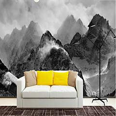 billige Tapet-røykfylt skumring fjell tilpasset 3d store veggdekorasjoner veggmalerier bakgrunnsbilder moderat restaurant tv bakgrunnsbilde
