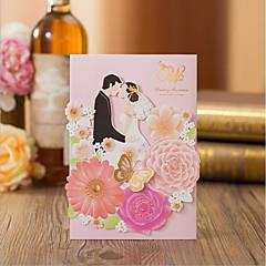 abordables Invitations de Mariage-Plis Fenêtre Invitations de mariage Faire-Parts de Fiançailles Cartons d'Invitations Pour Soirée Cadeaux Pour la Mariée Cartons