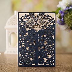 abordables Invitations de Mariage-Format Enveloppe & Poche Invitations de mariage Cartes d'invitation Style classique Papier gaufré Relief