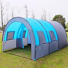 billige Telt og ly->8 personer Telt med flere rom Tredobbelt camping Tent Tre Rom Familietelt Fort Tørring Vindtett Anvendelig Svettereduserende Pusteevne