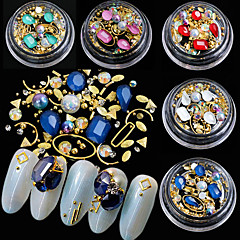 baratos Cuidados de Unhas-5 pcs Com Gliter / Cristal Contas de Metal / Jóias de unha Conjuntos de Joalharia / Acessório / Decorações
