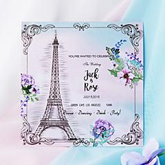 お買い得  ウェディング招待状-フラット 結婚式の招待状 20パック 50パック - 招待状セット アーティスティック パール紙