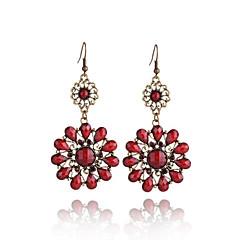 cheap -Women's Synthetic Tanzanite Drop Earrings - Resin Flower Bohemian, Fashion, Boho Gray / Red / Green For Daily / Going out