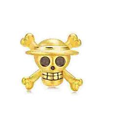 billige Perler og smykkemaking-DIY Smykker 1 stk Perler Legering Gull Hodeskalle Perlene 0.5 cm DIY Halskjeder Armbånd