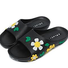 baratos Chinelos-Chinelos de Mulher Chinelos Comum PVC Cor Única Sapatos