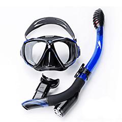 billiga Dykmasker, snorklar och simfötter-TUO Snorklingspaket / Dykning Paket - Dykmaske, Snorkel - Anti-dimma, Explosionssäker, Torrdräkt – överdel Simmning, Dykning Silikon, PC