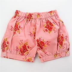 billige Bukser og leggings til piger-Spædbarn Pige Aktiv / Basale Blomstret Trykt mønster Bomuld Shorts / Sødt
