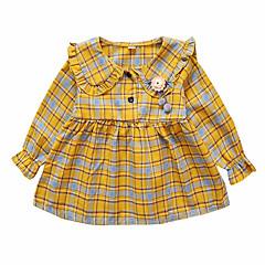 baratos Roupas de Meninas-Bébé Para Meninas Vintage Estampado Manga Longa Vestido