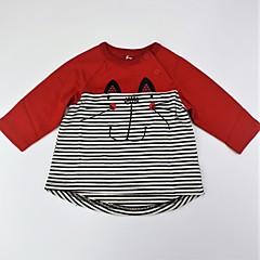 billige Pigetoppe-Spædbarn Unisex Afslappet / Aktiv / Basale Farveblok / Dyr Trykt mønster Langærmet Bomuld T-shirt