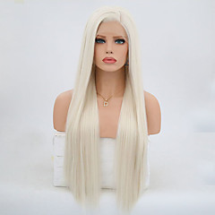 Synthetic Lace Front Wig Women s Straight Blonde Synthetic Hair Natural  Hairline Blonde Wig 24 inch   26 inch   Long Lace Front Platinum Blonde 089a63b798