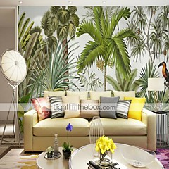 billige Tapet-3d tropisk skog fugl tilpasset store wallcovering veggmaleri bakgrunnsbilder utstyrt soverom restaurant tv bakgrunn
