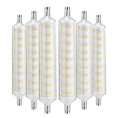 billiga Dekorativ belysning-YWXLIGHT® 6pcs 12W 1000-1200lm R7S LED-lampa 108 LED-pärlor SMD 2835 Dekorativ Varmvit 220-240V