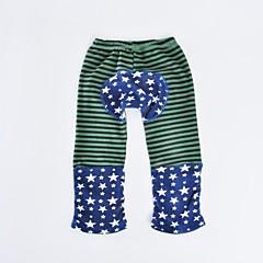 billige Bukser og leggings til piger-Baby Pige Aktiv Daglig / Ferie Prikker / Stribet Polka Prikker / Stribe / Dyre Mønster Langærmet Bomuld / Polyester Bukser Rød 100