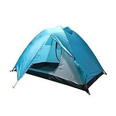 billige Telt og ly-2 personer Skjermtelt / Strandtelt / Kanapetelt Dobbelt Lagdelt Stang Kuppel camping Tent Utendørs Lettvekt, Regn-sikker, Vindtett til Klatring / Camping / Vandring / Grotte Udforskning / Reise