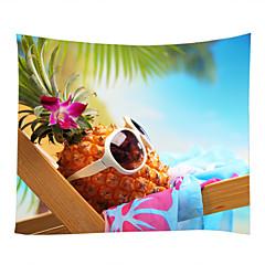 tanie Dekoracje ścienne-Motyw plażowy / Jedzenie i picie Dekoracja ścienna 100% poliester Nowoczesny Wall Art, Ścienne Gobeliny Dekoracja
