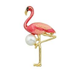 billige Motebrosjer-Nåler - Flamingo Grunnleggende, Mote Brosje Rød / Grønn / Blå Til Daglig / Stevnemøte